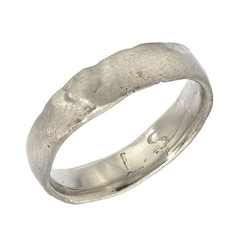 Gold Western Wall Imprint Ring (Thin Band)