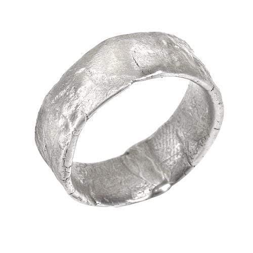 Western Wall Wide Silver Band - Western Wall Jewelry