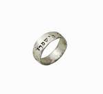 God bless you and guard you,  Engraved Jewish Silver Ring - Western Wall Jewelry