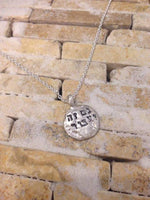 'Gam Ze Yaavor' This too Shall Pass, Hebrew Silver Necklace