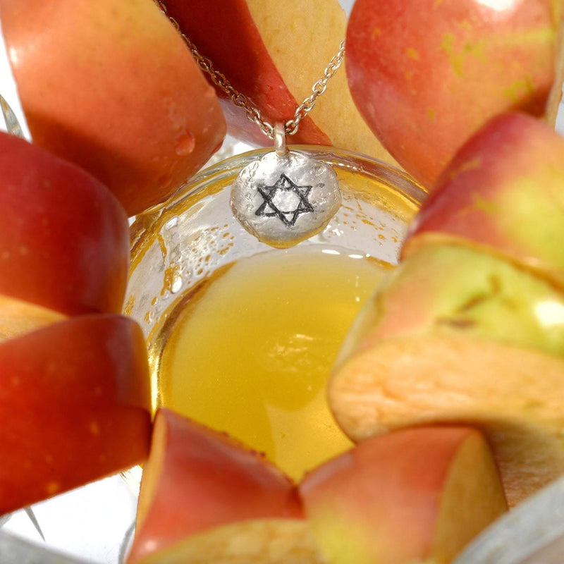 Larger Star of David Silver Pendant Necklace