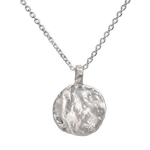Western Wall  Imprint Silver Necklace - Western Wall Jewelry