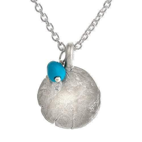Western Wall Pendant with Turquoise Bead - Western Wall Jewelry