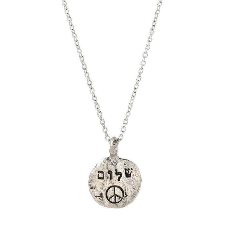 Shalom (Peace) with Peace Sign Necklace