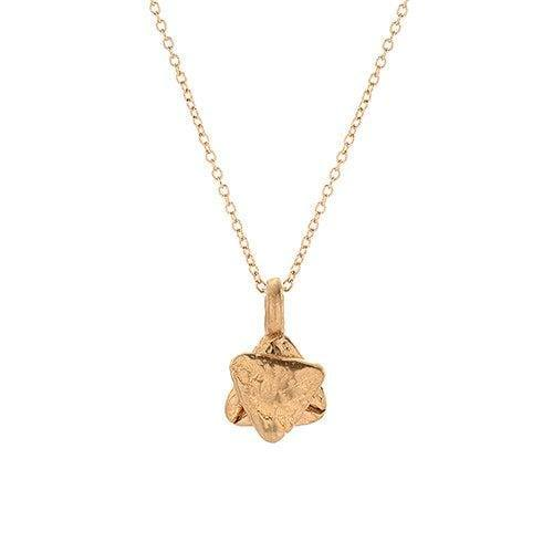 Small Gold Star of David Necklace - Western Wall Jewelry