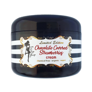 LIMITED EDITION Chocolate Covered Strawberries-Organic vegan body butter CREAM for daily skincare use-also for scars/marks/cellulite & more!