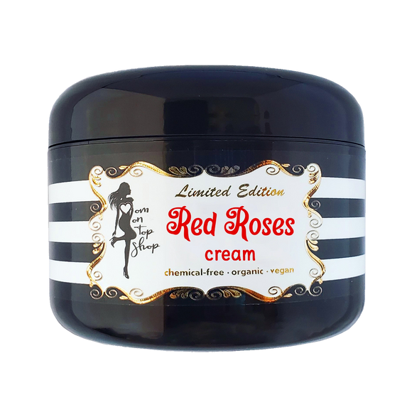 LIMITED EDITION Red Roses-Naturally scented organic vegan body butter CREAM for daily skincare use-also for scars/marks/cellulite/eczema