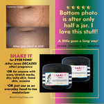 BAKE IT + SHAKE IT - Butter scrubs <br>*During+after (even DECADES after) pregnancy<br> *Prevent and fade stretch marks, also use for dry skin/loose skin/scars/eczema. <br>*Anti-itch, organic, vegan, chemical-free
