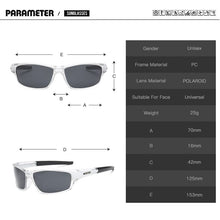 "Load image into Gallery viewer, Sunglass ""Square red"" polarized"