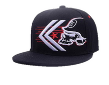 "Load image into Gallery viewer, Flat Brim Cap ""Punisher White"""