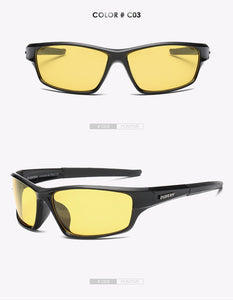 "Sunglass ""Square black yellow"" polarized"
