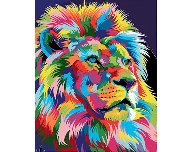 Colored Lion