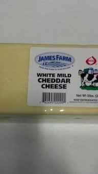 James Farm - Mild Cheddar Cheese Loaf - 5 lbs