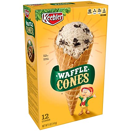 Keebler - Small Waffle Cone - 12/22ct