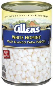 Allen's White Hominy- 10lb Can
