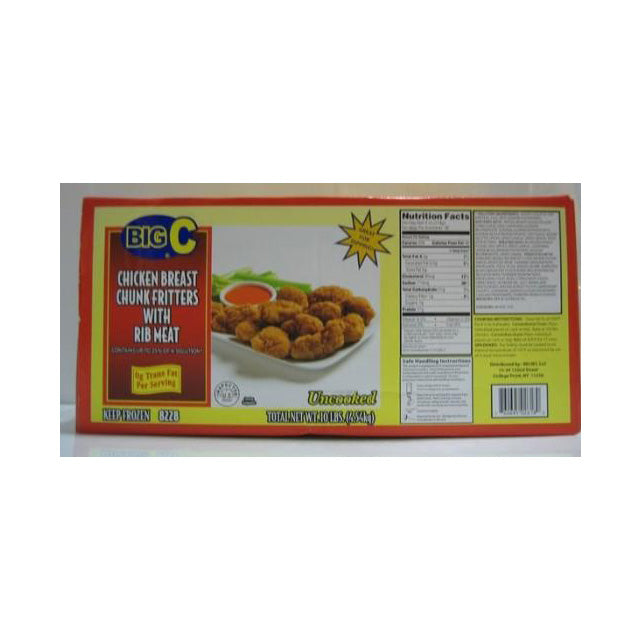 Frozen Big C - Southern Chicken Fritters - 10 lbs