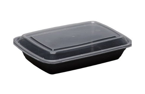Maple Trade - HD#RE28 - 28 oz Black Rectangular Food Container - 120 ct