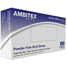 Load image into Gallery viewer, Ambitex XL Vinyl Gloves- 100ct