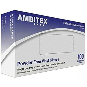 Ambitex XL Latex Gloves- 100ct