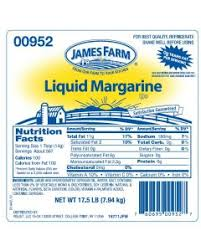 James Farm - Zero Trans Fat Liquid Margarine - 17.5 lbs