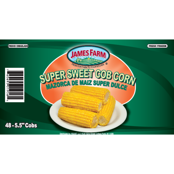 Frozen James Farm - Super Sweet Cob Corn, 3 inches - 96 ct