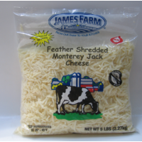 James Farm - Fancy Shredded Monterey Jack Cheese - 5 lbs