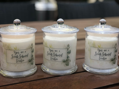 Sweet Pea & Vanilla\ Teachers Candle