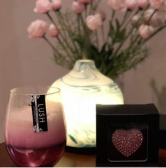 White tea & Berries / Heart Shaped Pink Car Diffuser