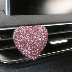 Pink Lotus & Camellia / Heart Shaped Pink Car Diffuser