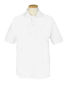White Short Sleeved Polo