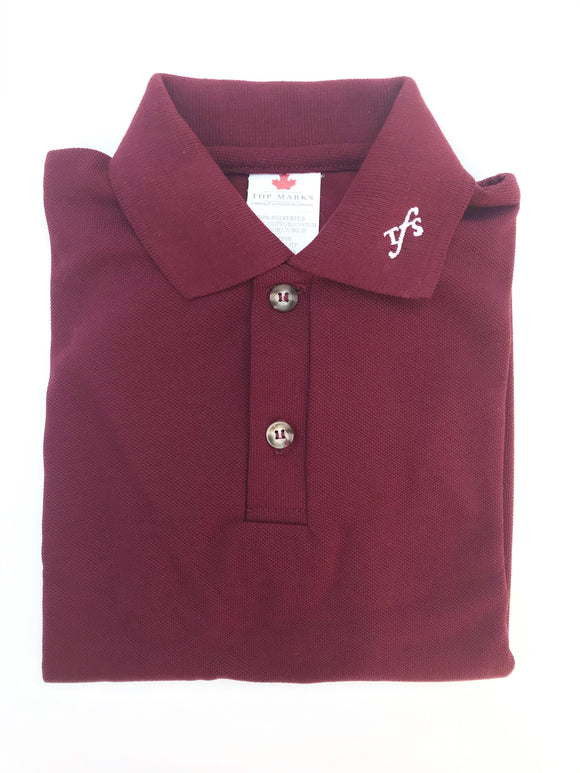Burgundy Short Sleeved Polo
