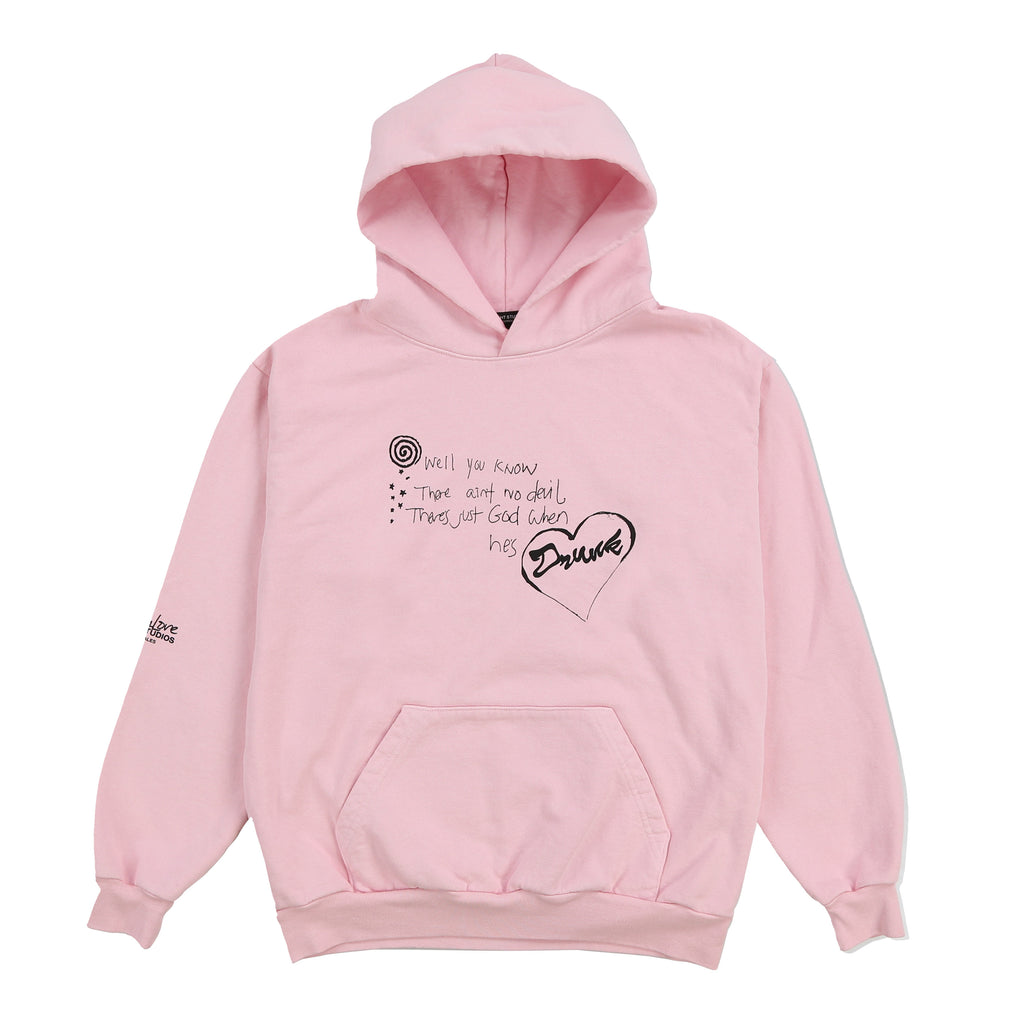 AIN'T NO DEVIL PULLOVER HOODY (PINK)