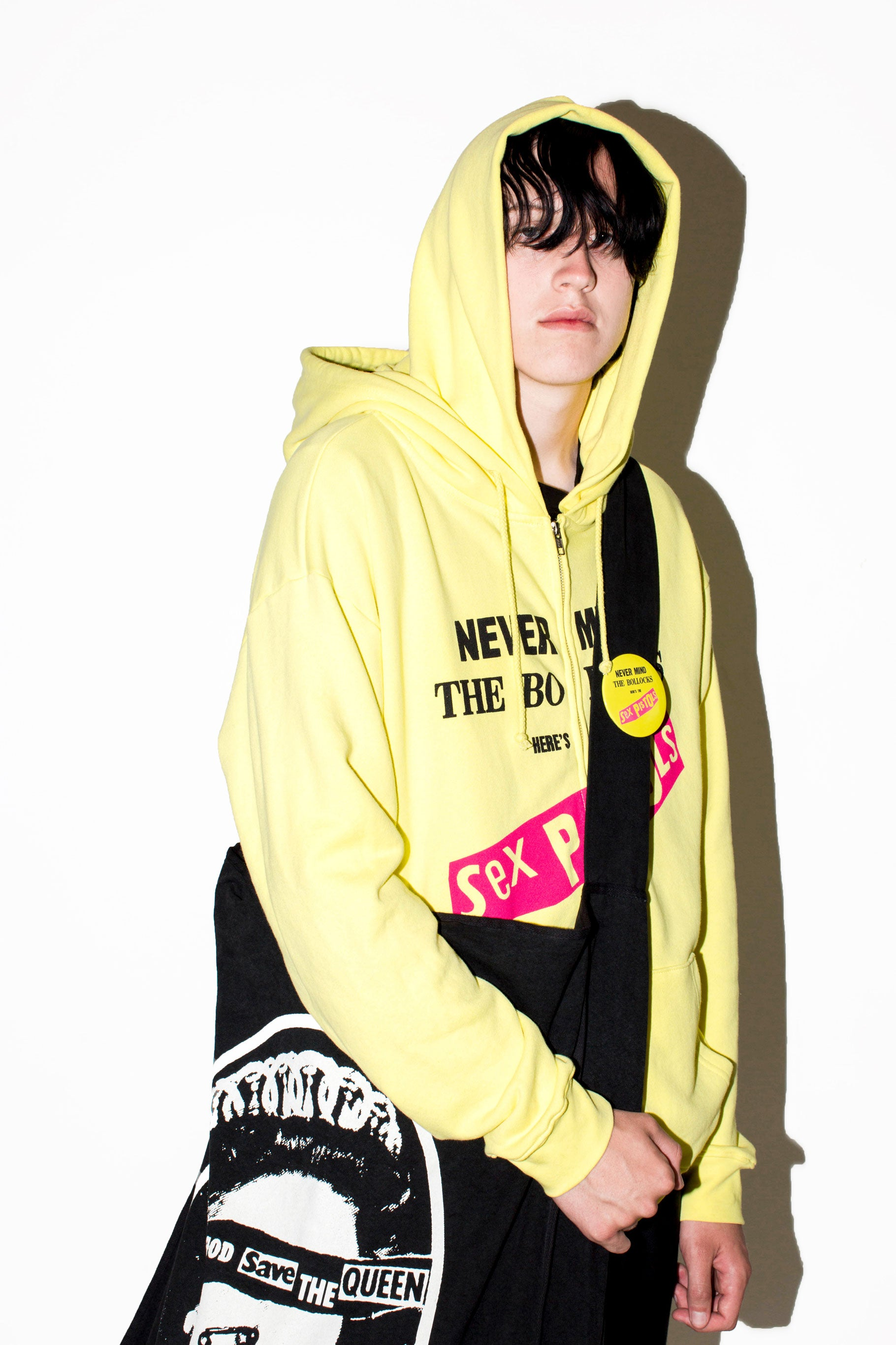 SEX PISTOLS FULL ZIP DBL HOODY (YELLOW)