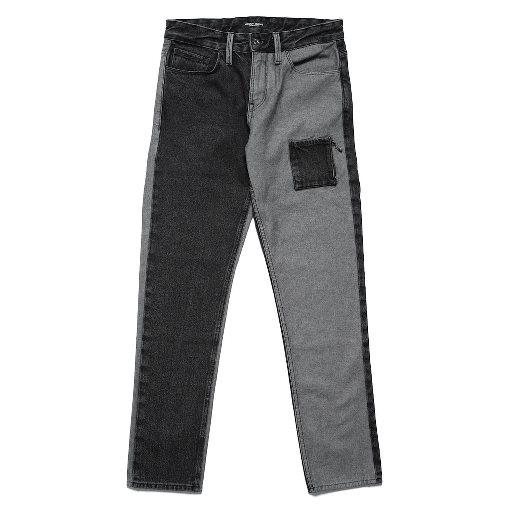 MIDNIGHT STUDIOS/GUESS® COLOR BLOCK JEANS (LIGHT BLACK)