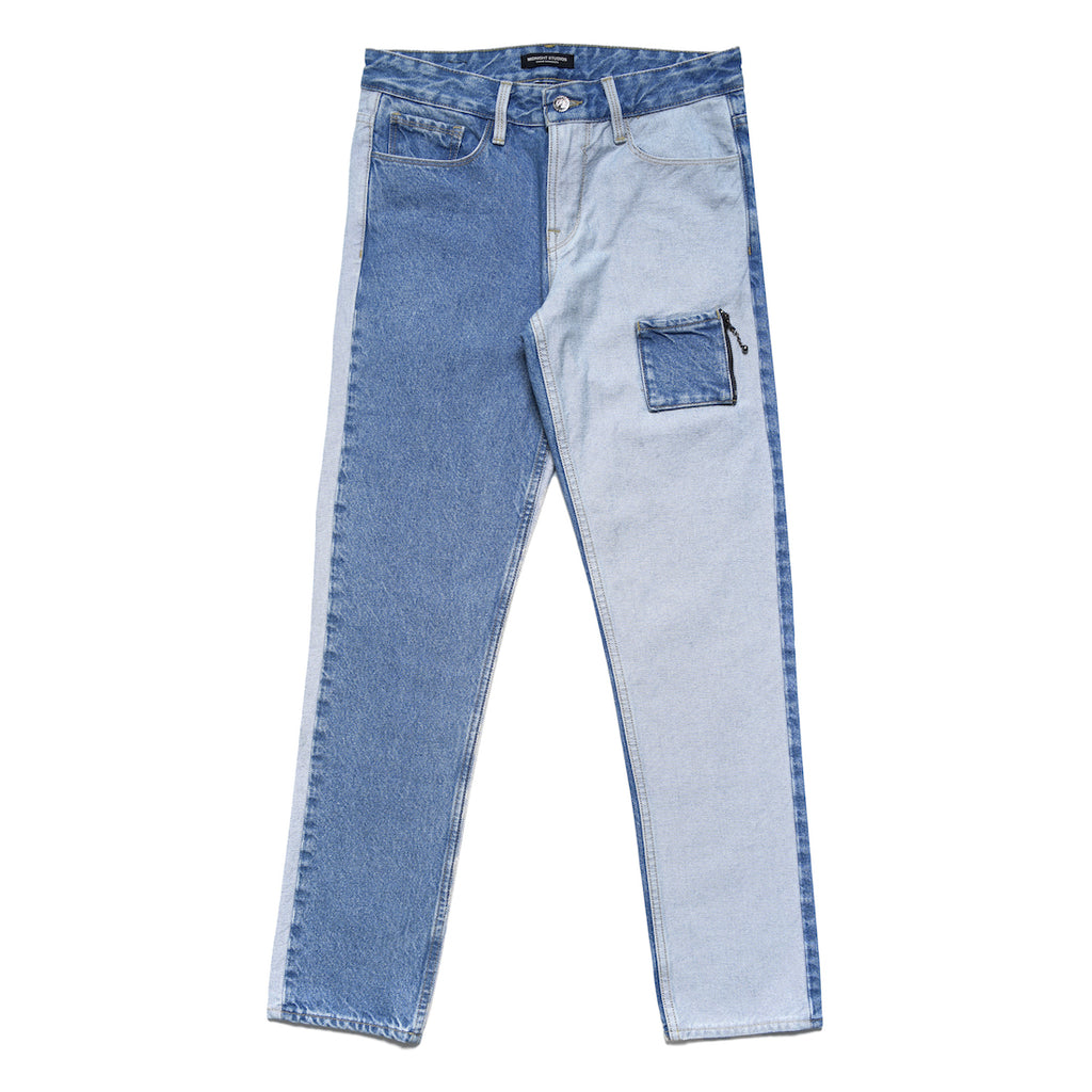 MIDNIGHT STUDIOS/GUESS® COLOR BLOCK JEANS (LIGHT INDIGO)