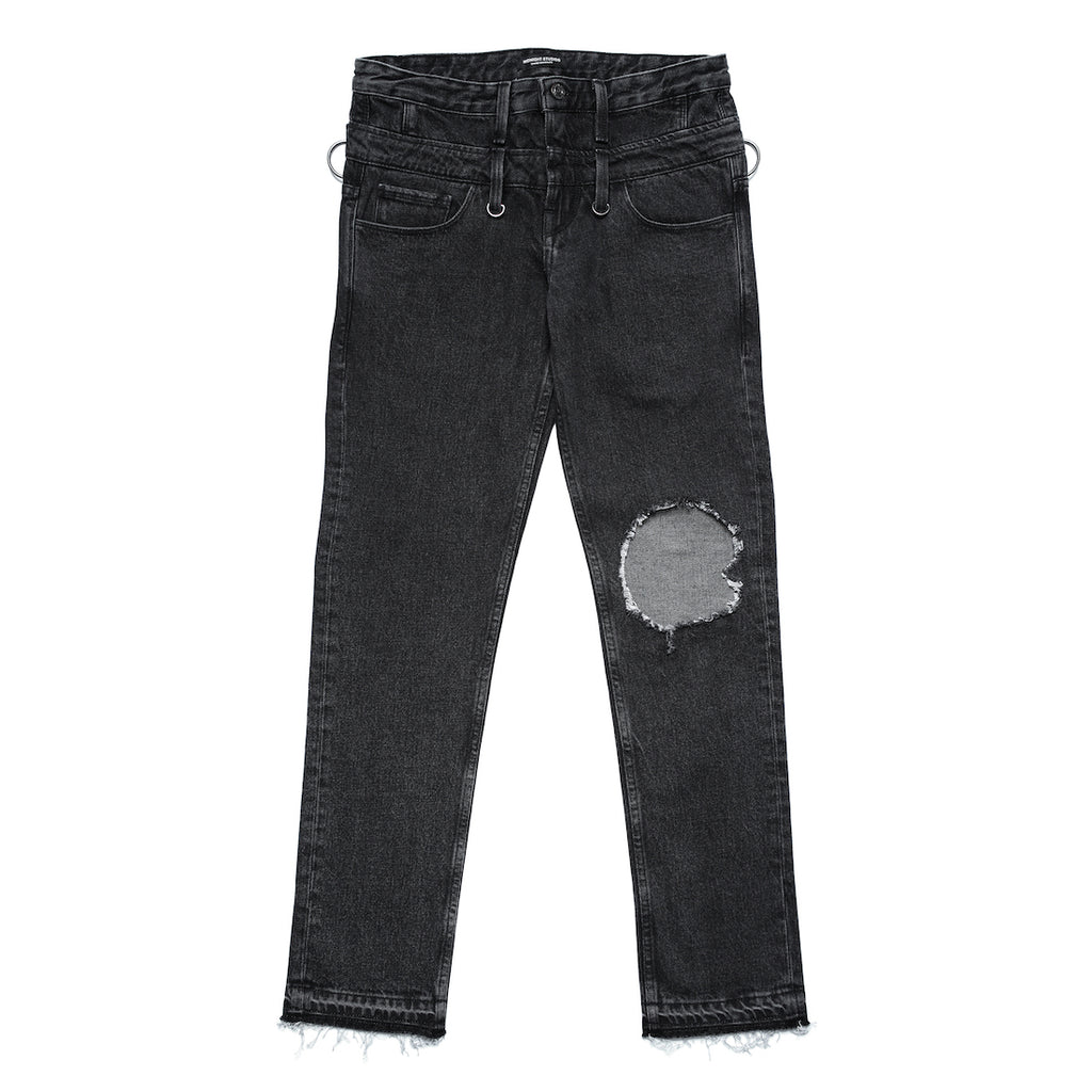 MIDNIGHT STUDIOS/GUESS® DOUBLE WAISTED JEANS (LIGHT BLACK)