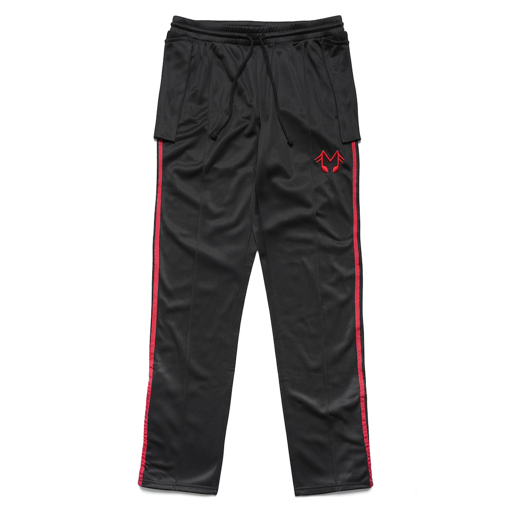 MUSIC NOTE TRACK PANTS (BLACK)
