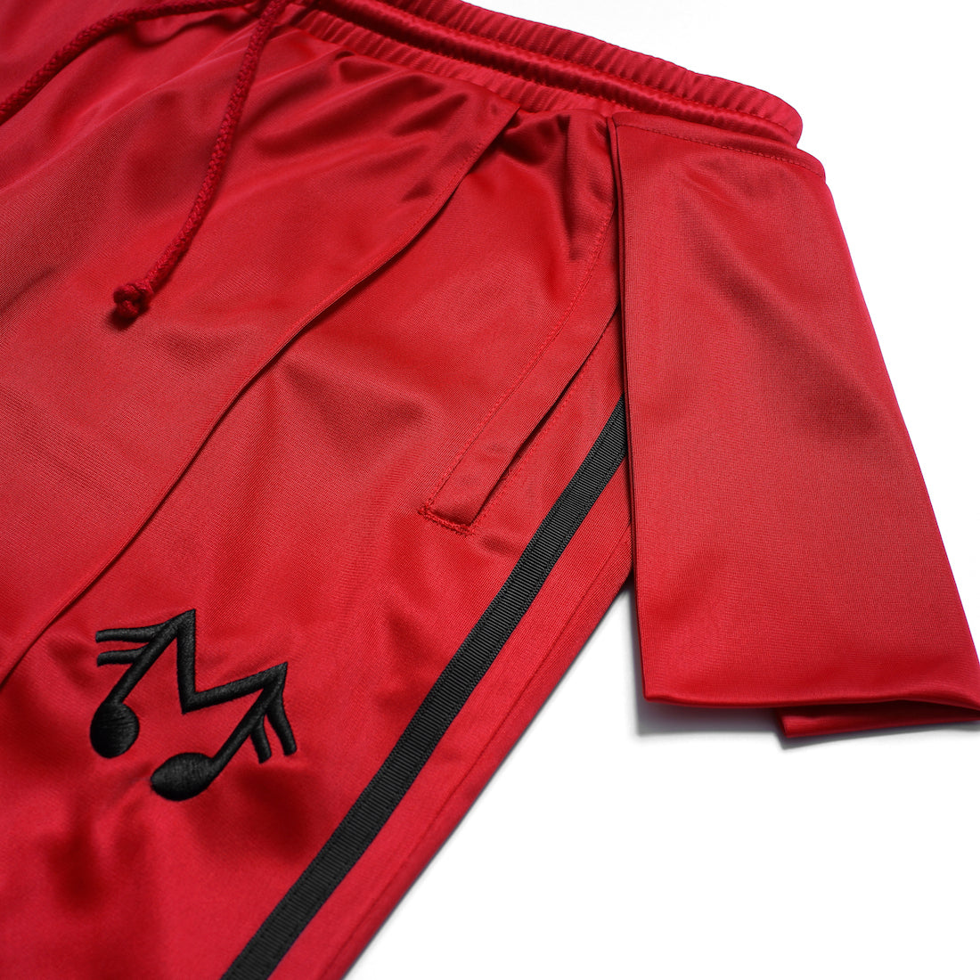 MUSIC NOTE TRACK PANT (RED)
