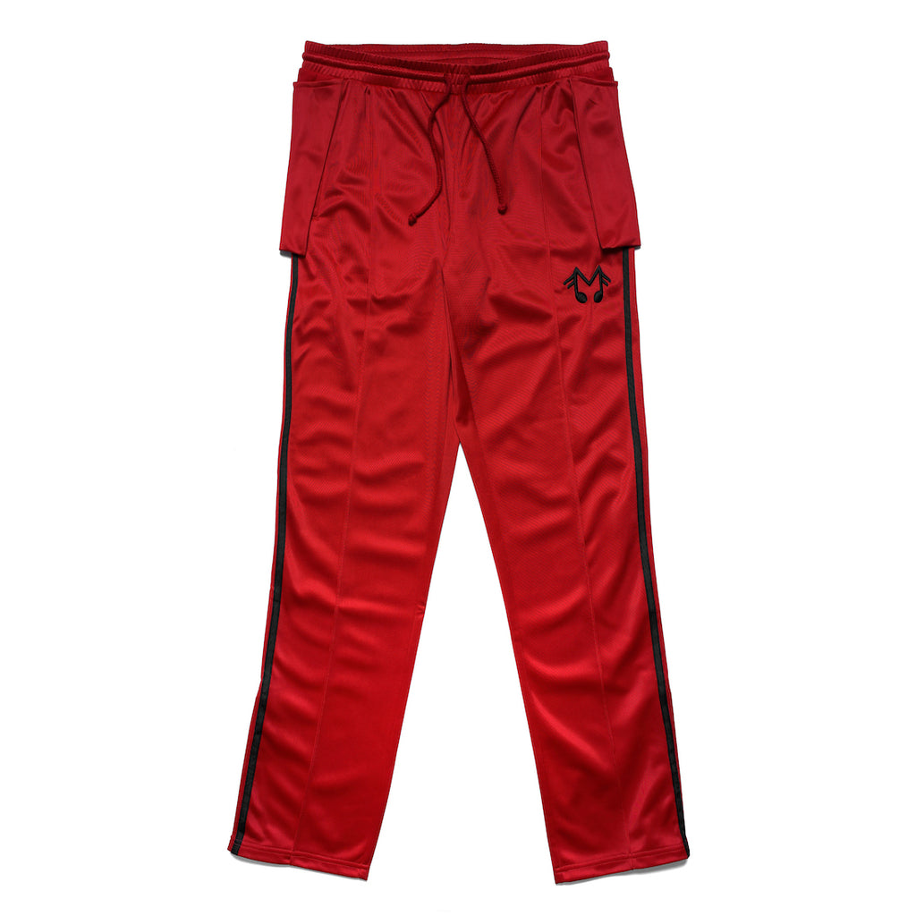 MUSIC NOTE TRACK PANTS (RED)