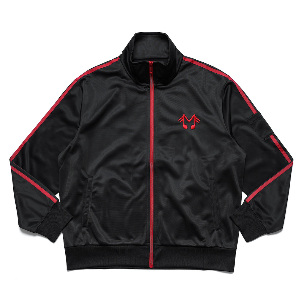 MUSIC NOTE TRACK JACKET (BLACK)