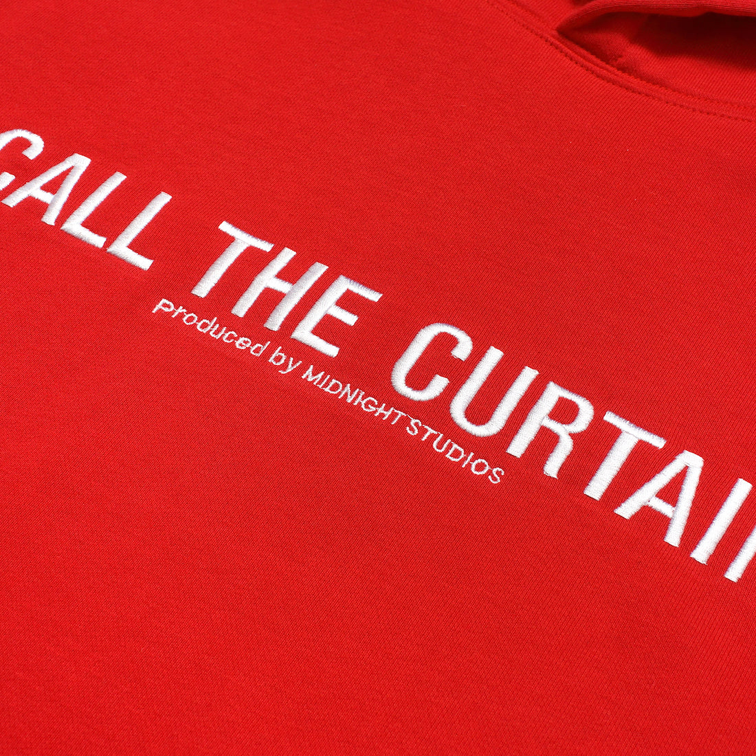 CALL THE CURTAIN PULLOVER HOODY (RED)