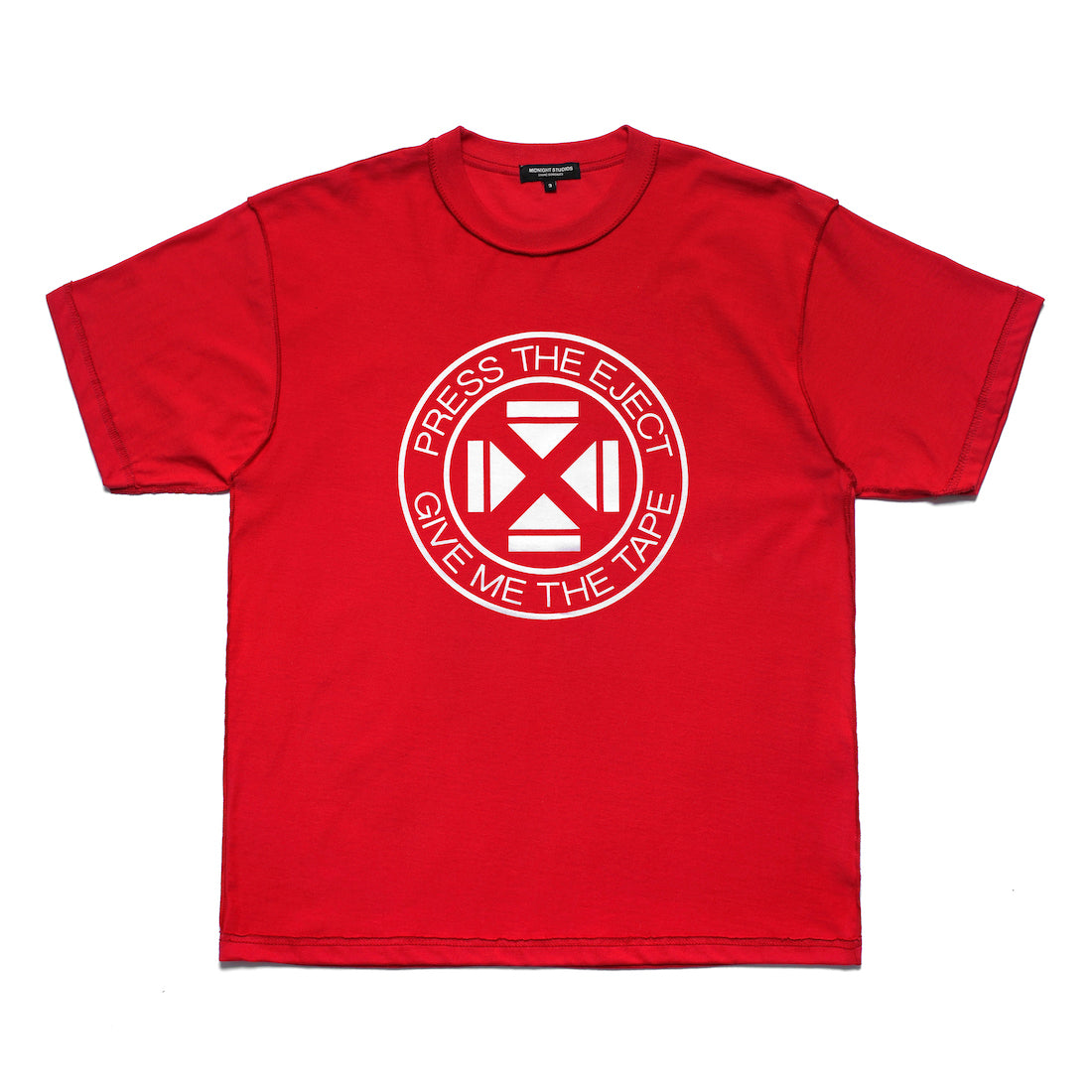 PRESS THE EJECT T-SHIRT (RED)