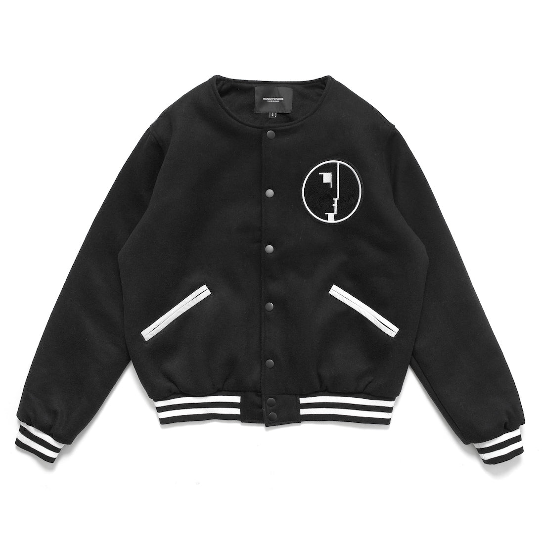 LOGO VARSITY JACKET (BLACK)