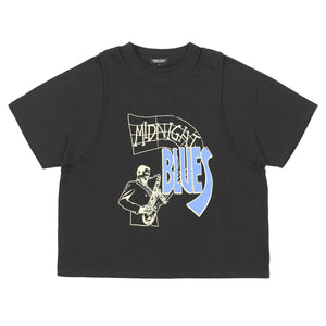 MIDNIGHT BLUES LAYERED T-SHIRT