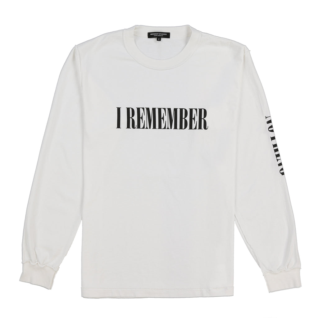I REMEMBER NOTHING L/S T-SHIRT (WHITE)
