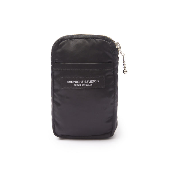 BLACK NYLON STASH POUCH