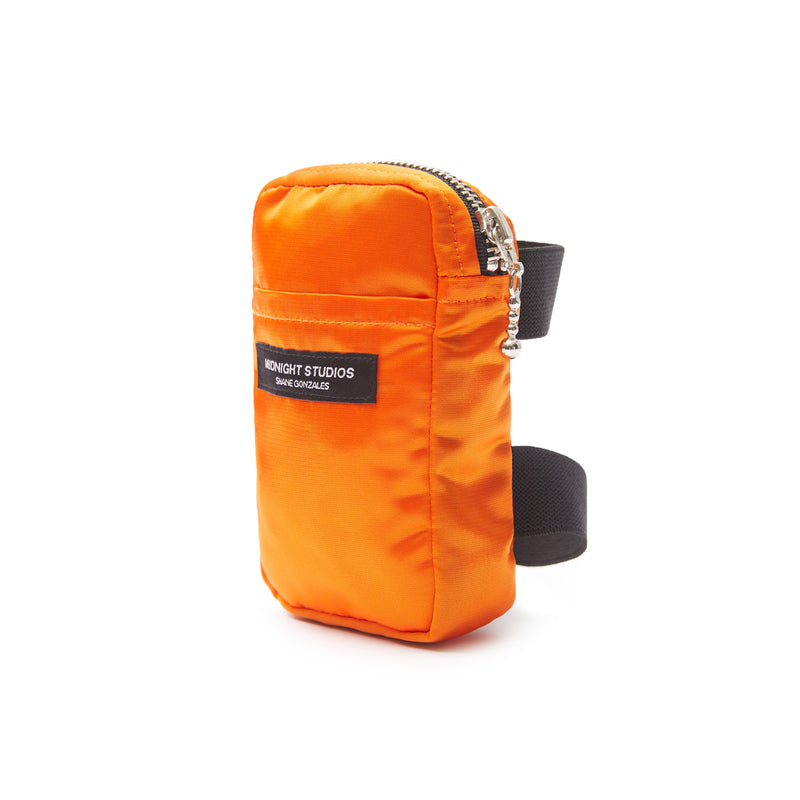 ELECTRIC ORANGE NYLON STASH POUCH