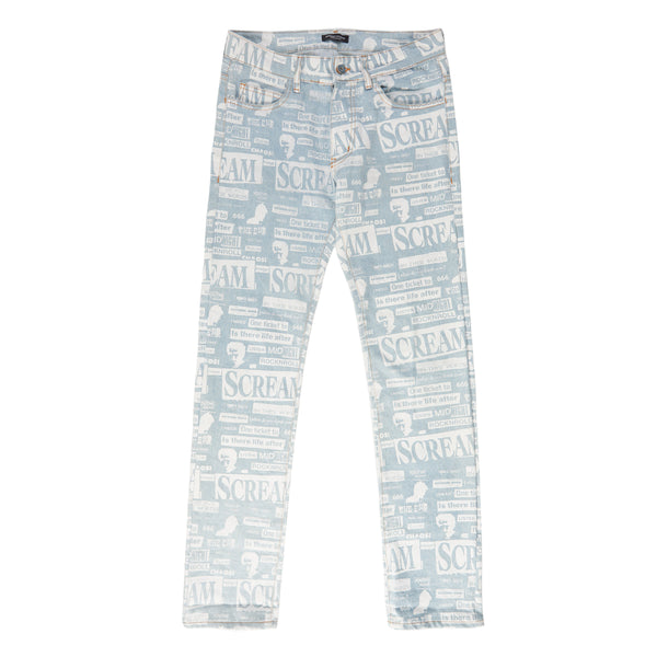 BLUE COLLAGE SLIM FIT JEANS