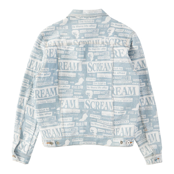 BLUE COLLAGE TRUCKER JACKET