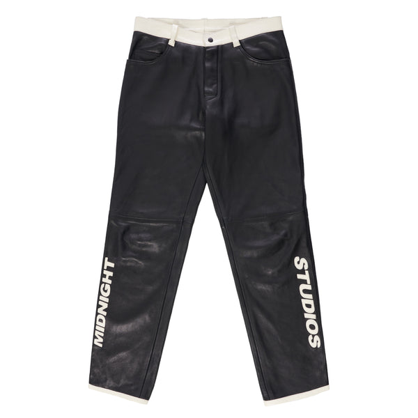 BLACK LEATHER SUICIDE PANTS
